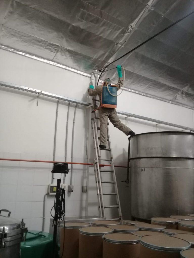Fumigación realizadas en una empresa